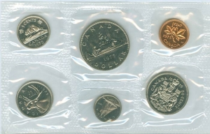 Annual Canadian coin set 1975 (6 coins)