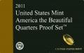 Набор 25 центов 2011 США Национальные парки (1 пластина) пруф, двор S, никель