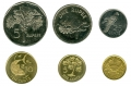 A set of coins 2004-2010 Seychelles, 6 coins