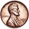 1 цент 1960 США Линкольн D, UNC