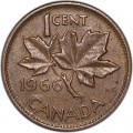 1 cent 1966 Canada, from circulation