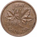 1 cent 1968 Canada, from circulation