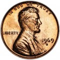 1 cent 1969 Lincoln USA, mint D