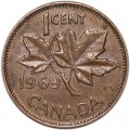 1 cent 1969 Canada, from circulation