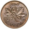 1 cent 1972 Canada, from circulation