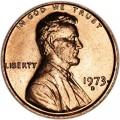 1 цент 1973 США D, UNC
