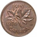 1 cent 1976 Canada, from circulation