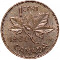 1 cent 1980 Canada, from circulation