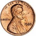 1 цент 1980 США P, UNC