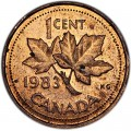 1 cent 1983 Canada, from circulation