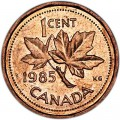 1 cent 1985 Canada, from circulation
