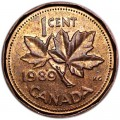 1 cent 1989 Canada, from circulation