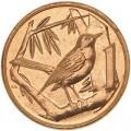 1 цент 1992 Каймановы острова Дрозд