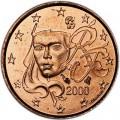 1 Cent 2000 Frankreich UNC