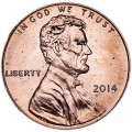 1 cent 2014 USA, Shield mint mark P