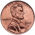1 цент 2017 США Щит, двор D