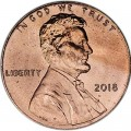 1 cent 2018 USA, Shield mint mark P