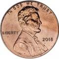 1 цент 2018 США, Щит двор P