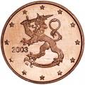 1 цент 2003 Финляндия, UNC
