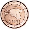 1 цент 2011 Эстония, UNC