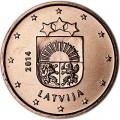 1 цент 2014 Латвия, UNC