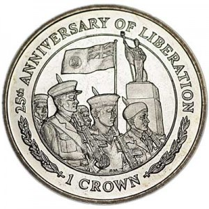 1 crown 2007 Falkland Islands 25 Anniversary of Liberation