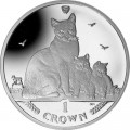 1 crown 2014 Isle of Man Snowshoe Cat