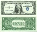 1 dollar 1957 A USA  certificate with blue seal, Banknote, XF