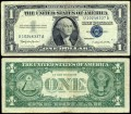 1 dollar 1957 B USA  certificate with blue seal, Banknote, VF-VG