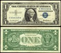 1 dollar 1957 USA  certificate with blue seal, Banknote, VF-VG