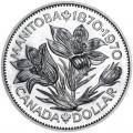 1 dollar 1970 Canada Monitoba (1870-1970)