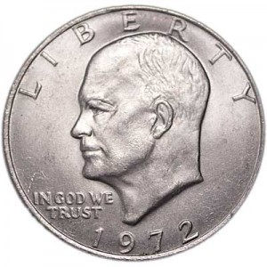 1 dollar 1972 USA Eisenhower, mint mark P