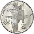 1 доллар 1995 США XXVI Олимпиада Гимнастика, серебро UNC