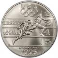 1 доллар 1995 США XXVI Олимпиада Легкая атлетика, серебро UNC
