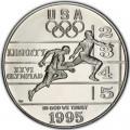 1 доллар 1995 США XXVI Олимпиада Легкая атлетика, серебро proof