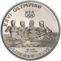 1 доллар 1996 США XXVI Олимпиада Гребля, серебро proof