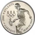 1 доллар 1996 США XXVI Олимпиада Теннис, серебро proof