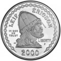 1 Dollar 2000 USA Leif Erikson, Silber Proof