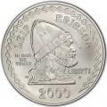 1 доллар 2000 США Лиф Эриксон, серебро UNC