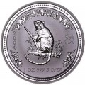 1 dollar 2004 Australia Year of the monkey, , silver