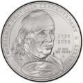 1 доллар 2006 Бенджамин Франклин Отец основатель, серебро UNC