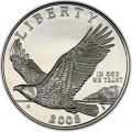 1 доллар 2008 США Белоголовый орлан, серебро proof