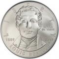 1 доллар 2009 Луи Брайль, серебро UNC