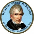 1 dollar 2009 USA, 9th president William Henry Harrison colored