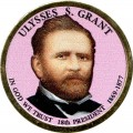 1 dollar 2011 USA, 18th president Ulysses Simpson Grant colored