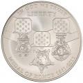 1 доллар 2011 США Медаль за отвагу, серебро UNC