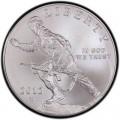 1 доллар 2012 США Пехотинец, серебро UNC