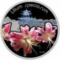 1 доллар 2012 Остров Ниуэ, Лилия прекрасная, серебро