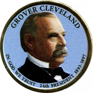 1 dollar 2012 USA, 24th President Grover Cleveland, colored