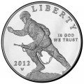 1 dollar 2012 USA Infanterie Soldat Silber proof
